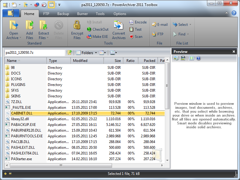 PowerArchiver 2011 screenshot