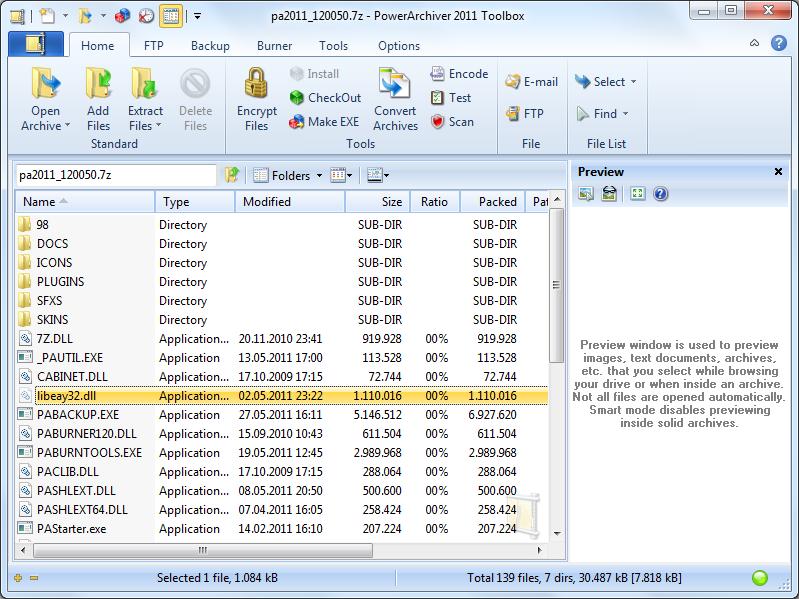 برنامج الملفات PowerArchiver 2011 v13.00.26